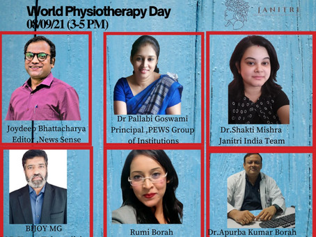 Webinar on 8 th September to spread awareness on this world physiotherpy day