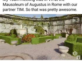 TIM: Zuckerberg visita in VR il mausoleo di Augusto.