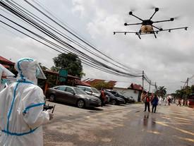 I droni vengono utilizzati da molti stati per la lotta contro il Covid-19.