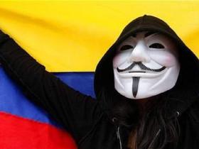 Anonymous Colombia chiude il sito web dell'esercito colombiano a seguito delle proteste.