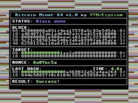 Brontosauri, ora si può minare bitcoin su C64.