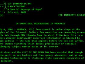 Hacktivism: Un messaggio speciale di speranza.