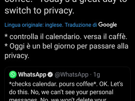 Signal e WhatsApp si trollano su Twitter.