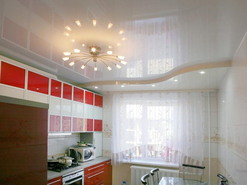 глянец белый кухня