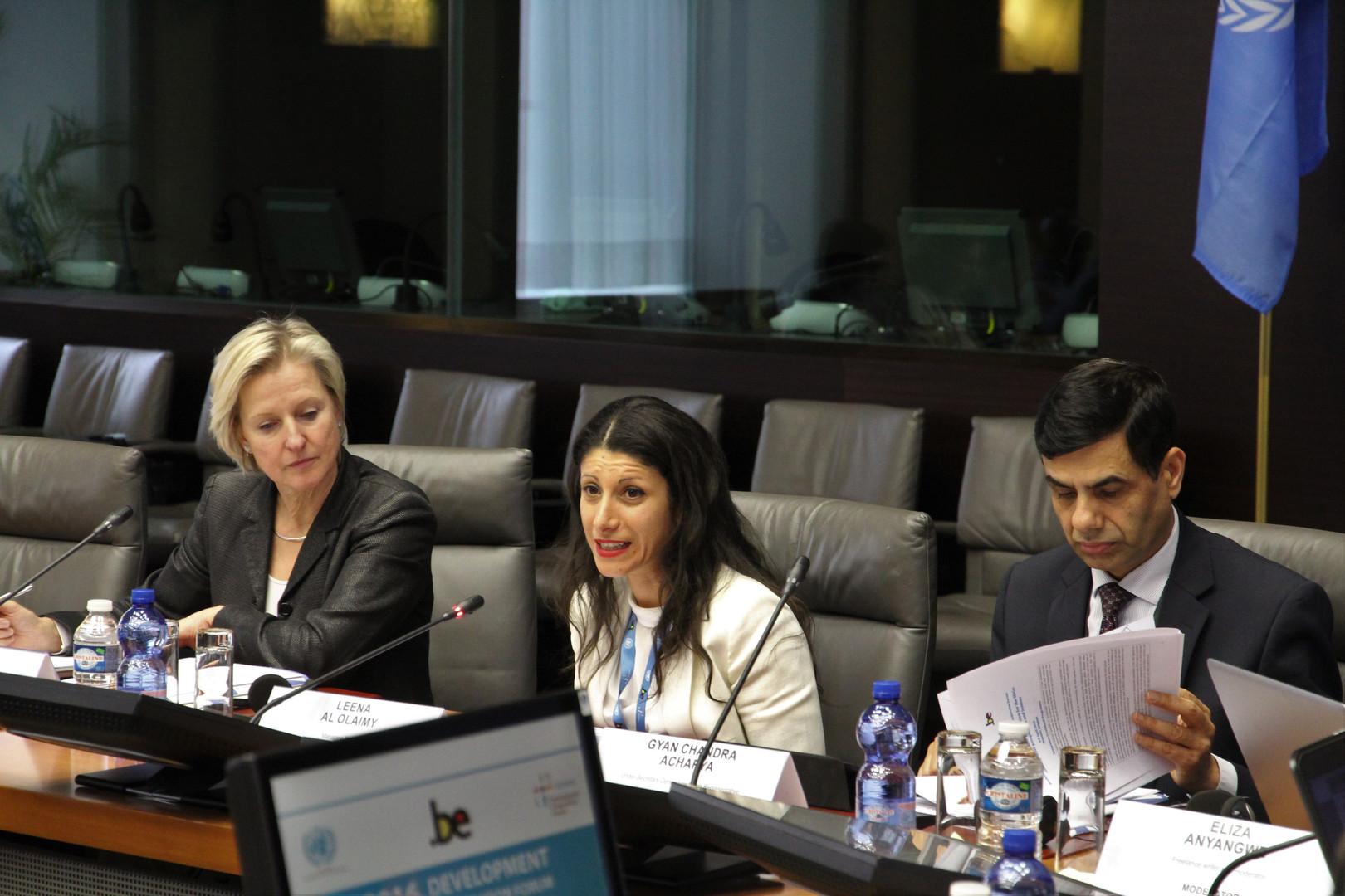 Speaking at UN Development Cooperation F