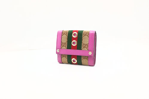 Gucci Sherry Line Compact Wallet in GG Canvas