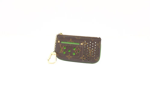 Louis Vuitton Green Perforated Pochette Cles