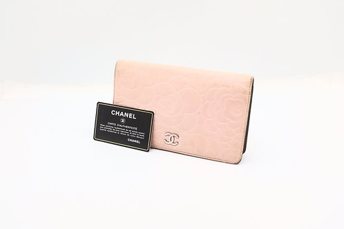 Buy preloved Chanel floral pink long wallet