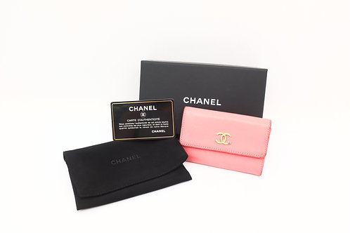 Buy preloved Chanel Lucky Clover Pink Card holder