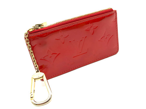 Louis Vuitton Pochette Cles in Red Epi Leather