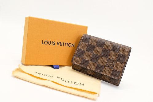 Louis Vuitton Card Case in Damier Ebene Canvas