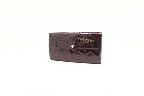 Louis Vuitton Sarah wallet vernis amaranth