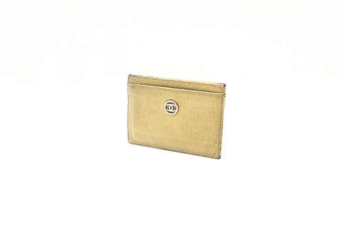 Chanel Deerskin Golden Card Case