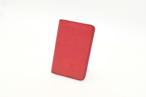 Louis Vuitton card holder epi red