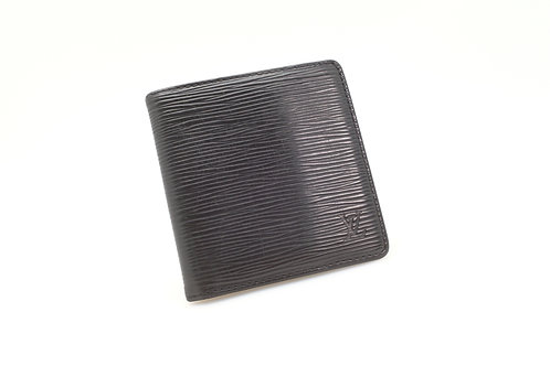 Louis Vuitton Compact Bifold Wallet in Epi Black Leather