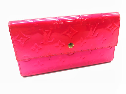 buy Louis Vuitton International wallet in vernis pink