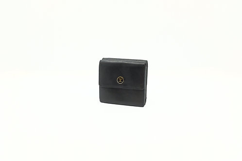 Chanel Compact Wallet in Black Leather