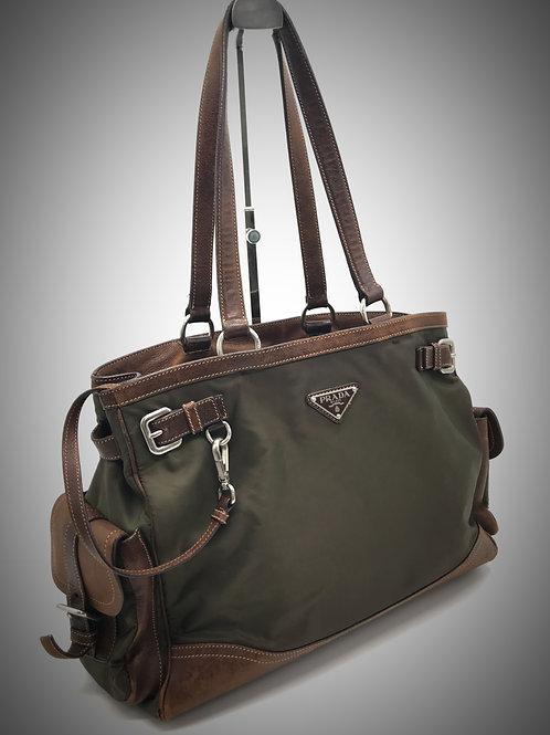 Prada shoulder bag with detachable pouch