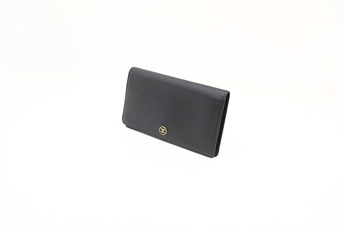 Buy preloved Chanel deerskin long wallet in black