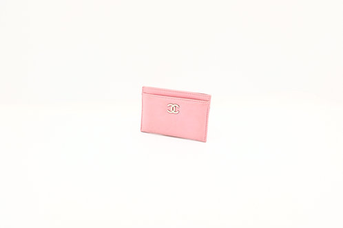 Chanel Camellia Card Case Pink