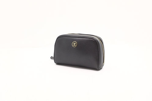 Chanel Sevruga Pouch in Black