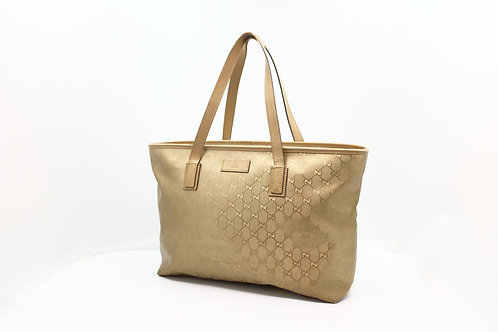 Gucci GG Imprime Shopping Bag in Gold