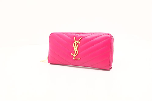 YSL Round Zip Long Wallet