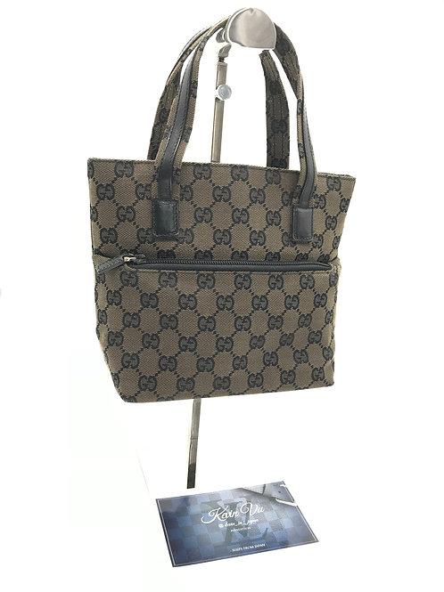 Gucci petite brown monogram handbag
