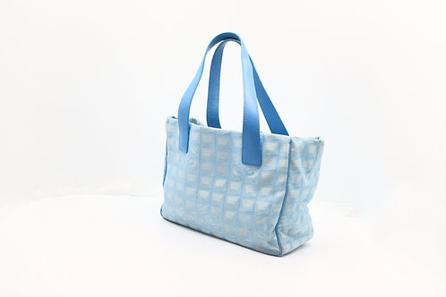 Chanel New Travel MM Tote Bag in Light Blue