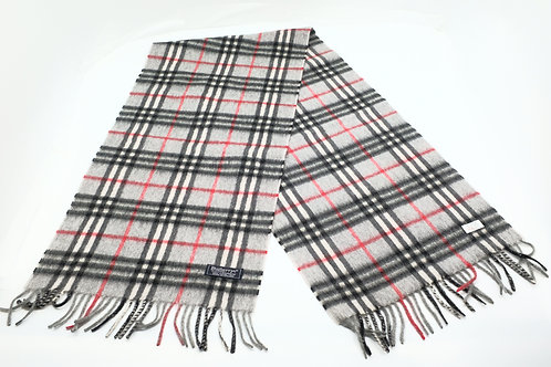 Burberry's Scarf in grey signature check