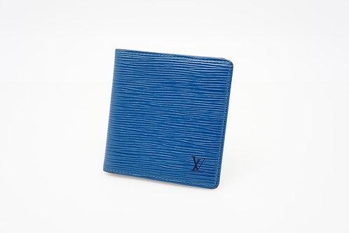 buy Louis Vuitton Men's bifold wallet in Epi Blue Leather