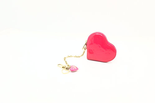 Louis Vuitton Heart Coin Case in vernis pink
