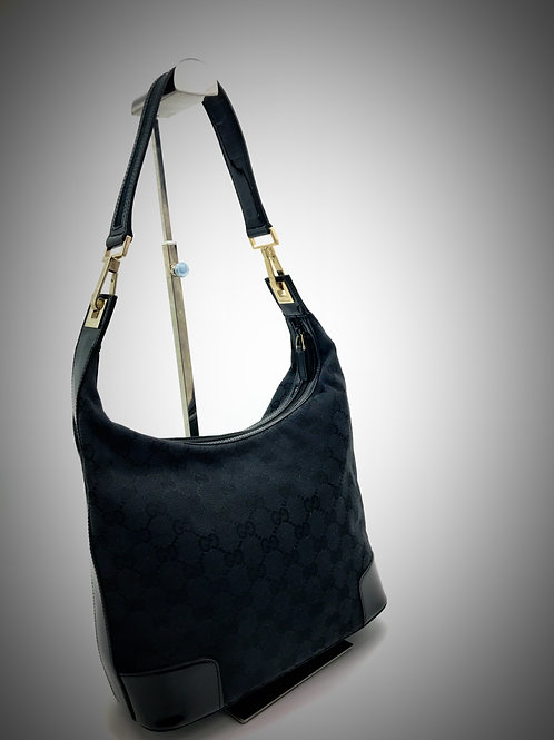 buy pre loved Gucci black shoulder bag