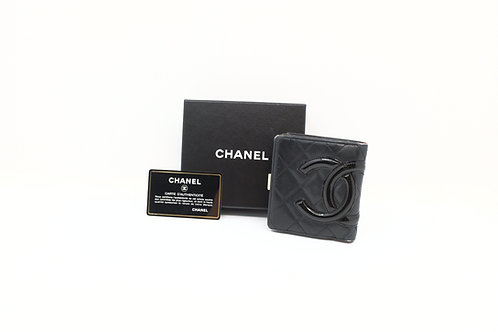 Chanel Cambon Line Compact Wallet in Black