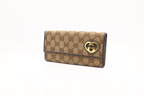 Gucci Long Wallet in GG Canvas
