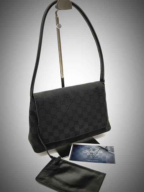 Gucci handbag with pouch GG black