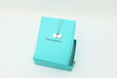 Buy authentic Tiffany & co. double heart necklace
