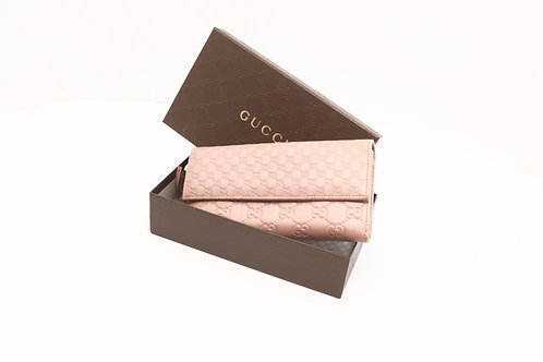 Gucci Guccissima Long Wallet in Pink