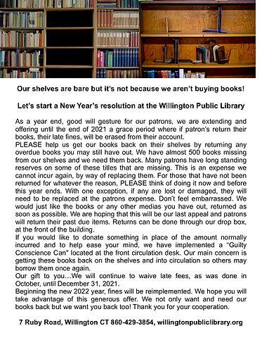 jpeg return books & fines will be waived - Oct. - Dec. 2021.jpg