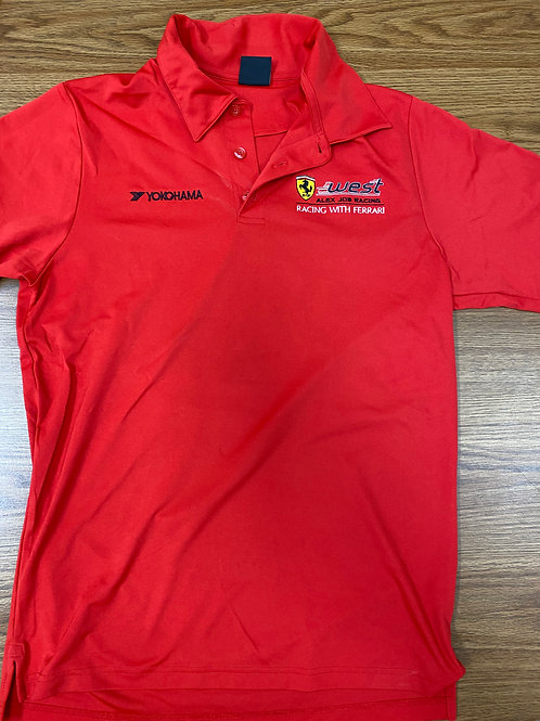 AJR/West ferrari Oakley Polo - red