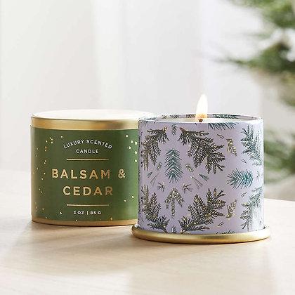 Illume Balsam and Cedar Large Tin
