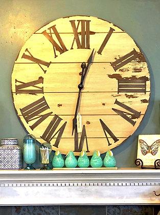 Weathered Wood Wall Clock