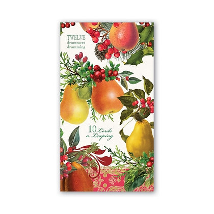 In a Pear Tree Hostess/Guest Napkin