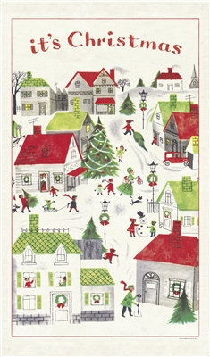Winter Village TeaTowel