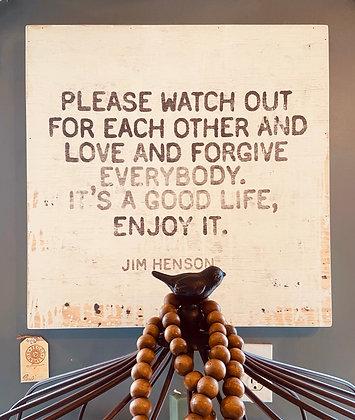 Jim Henson Quote Art Piece
