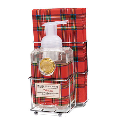 Tartan Foaming Hand Soap and Guest Napkin-paper