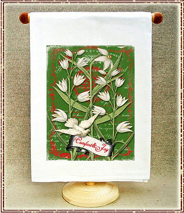 Comfort and Joy Paperwhites Tea Towel