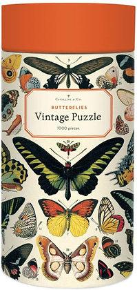 Vintage Butterflies 1000 Piece Jigsaw Puzzle