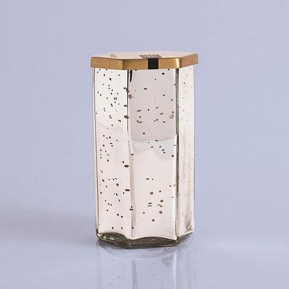 Volcano Hexagon Mercury Glass Jar