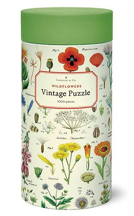 Vintage Wildflower 1000 Piece Jigsaw Puzzles